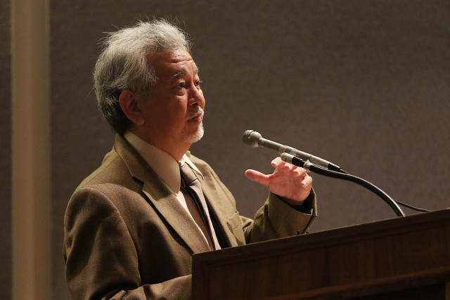 William Hoshijo Hawaii Civil Rights Commission speaks during Panel 1, Hawaii Advisory Committee to US Commission on Civil Rights to hold public meeting on Micronesian Immigration Issues. 20 aug 2015. photograph by Cory Lum/Civil Beat