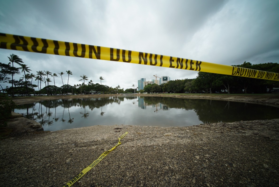 Ala Moana Park was closed after the spill, which city officials later blamed on miscommunication that led to only one of two pump stations in the area being in operation despite the forecast of heavy rain.