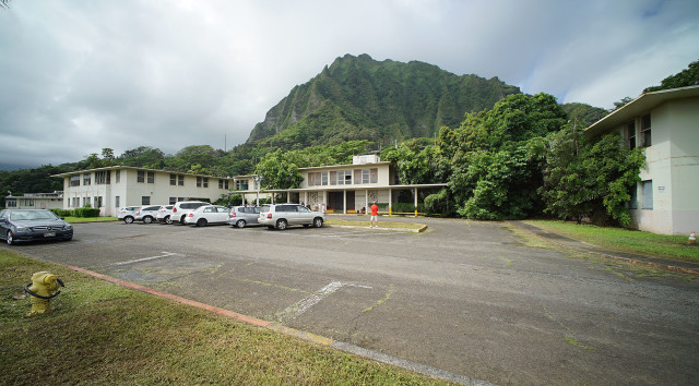 The Goddard Building, seen here Tuesday, will be demolished and replaced with a $160 million facility under the new master plan for the Hawaii State Hospital.