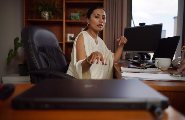 Yasmin Dar. Governor Ige's Digital Media Specialist.  portrait. 4 sept 2015. photograph Cory Lum/Civil Beat
