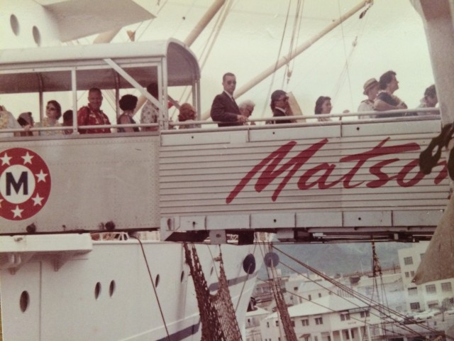 Paula Daniels' family traveled back to Hawaii in XX on the S.S. Lurline after her father completed his military service.