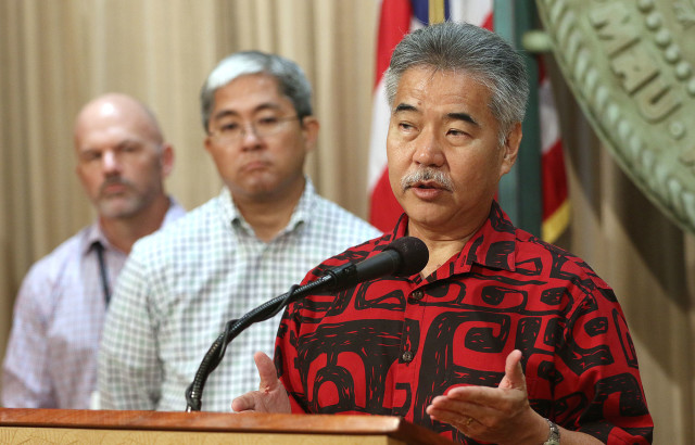 Gov. David Ige, issuing an emergency proclamation over the state's homelessness crisis.