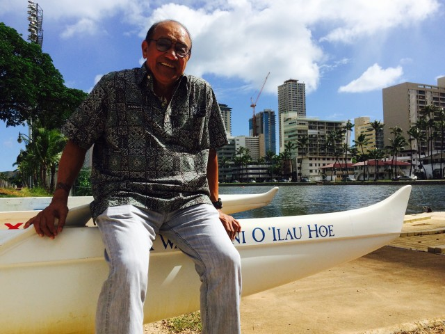 Peter Apo spent much of his childhood in the 1940s and 1950s around the Ala Wai Canal and Waikiki, before the big buildings went up.