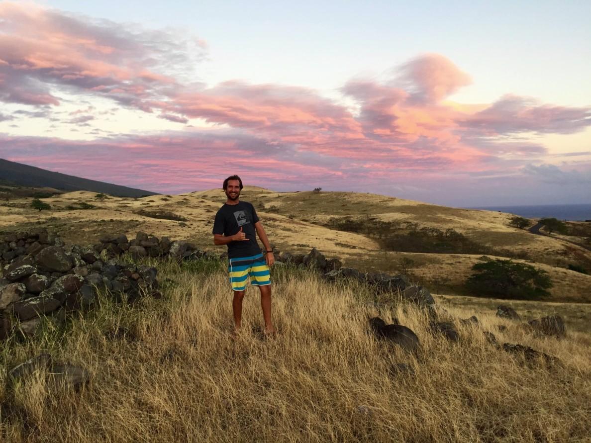 David Morgan living his dream on the south side of Haleakala, Maui.