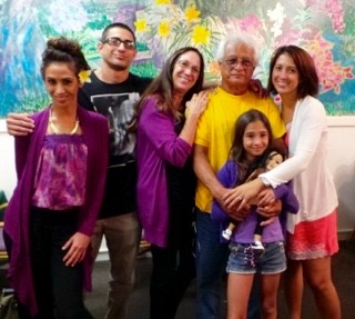 Al Gonzales and his family.