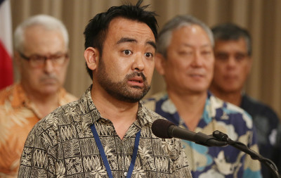 State of Hawaii Coordinator on Homeless, Scott Morishige during press conference on Kakaako in October.