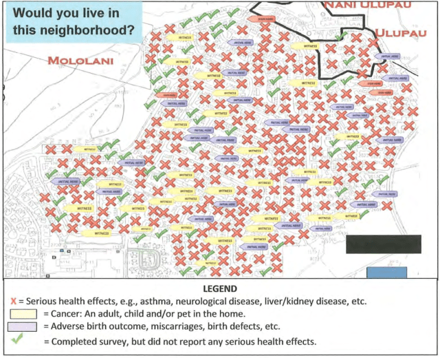 Dr. Walter Chun submitted this map to the Department of Health visualizing residents' reported health problems.