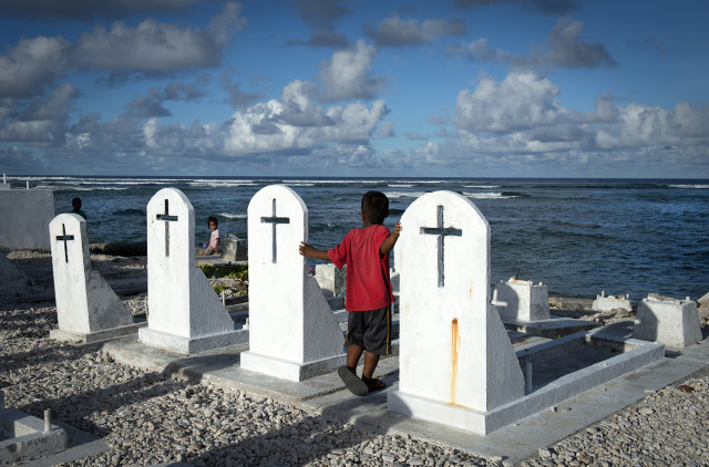 Graves on Majuro, the capital of the Republic of the Marshall Islands..