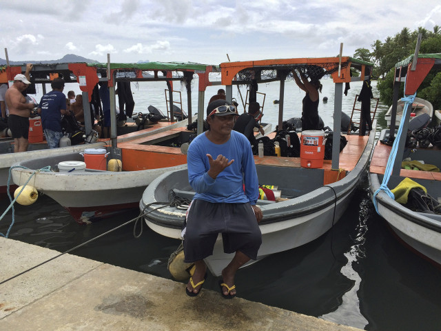 Diving and tour boats are about the only kind of business that is doing well in most of Micronesia.