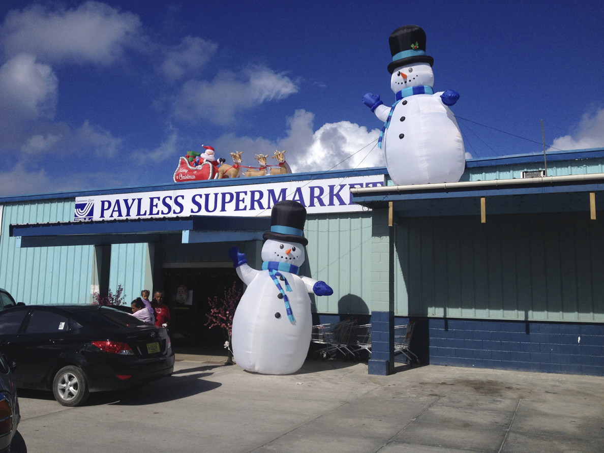 A supermarket on Majuro. Republic of the Marshall Islands