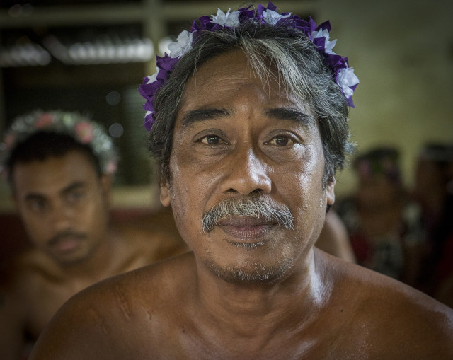 At a traditional ceremony on Pohnpei.