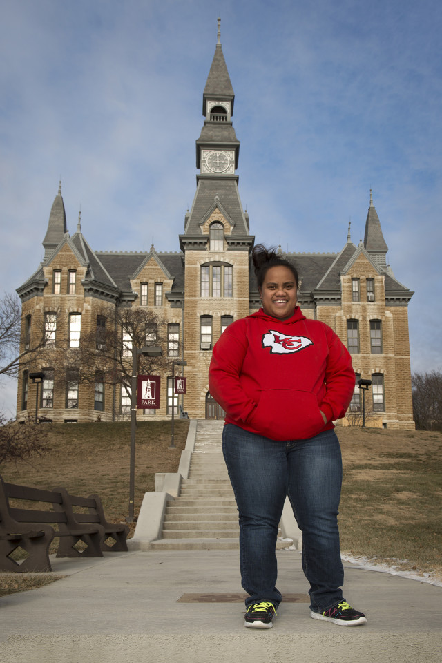 Emeral Nena from Kosrae, is a student at Park University in in Parkville, Missouri, near Kansas City. Education is a primary reason Micronesians flock to the U.S.