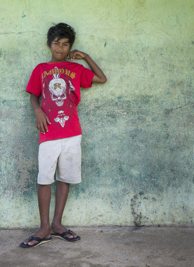 A boy in Chuuk.