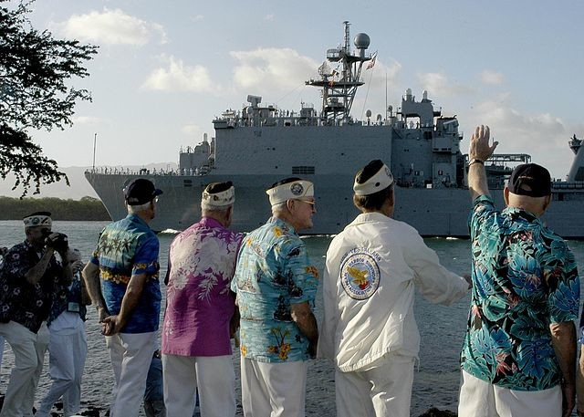 Survivors of the Pearl Harbor attack pay their respects in the 2006 commemoration of that horrific day to those who perished in the conflict.