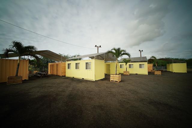 Hale Mauliola on Sand Island, a transitional shelter.