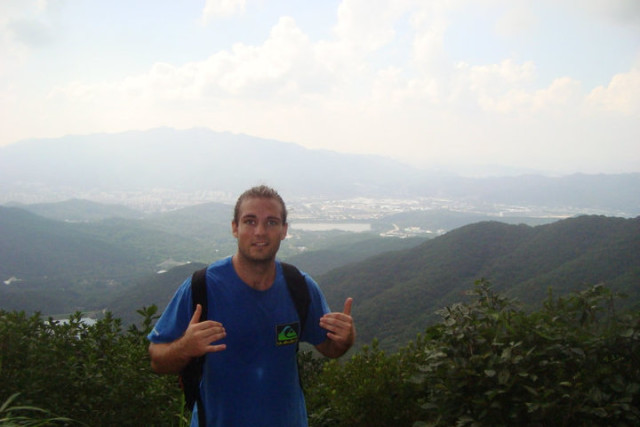 Stinton grew up surrounded by the Koolau mountains, and he continues to hike while living in Korea.