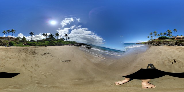 Here's a photo sphere as a flat image, which sort of looks like a really bad photo that's missing a chunk or two.