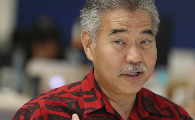 December 2015: Ige during an editorial board discussion with Civil Beat.