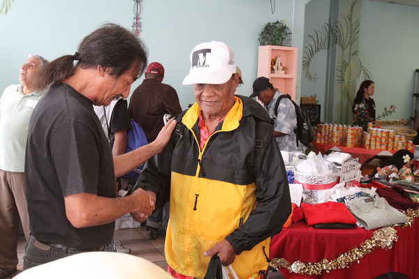 Needy men are outfitted with clothing at River of Life Mission in Chinatown.