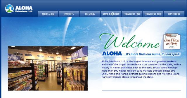 Aloha Petroleum Website