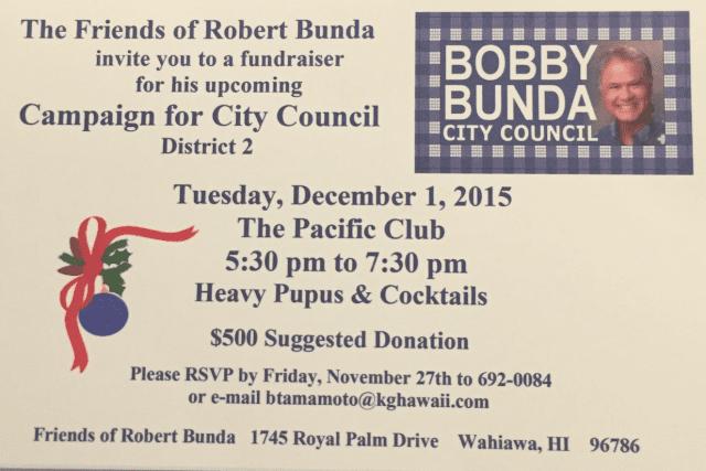 Bobby Bunda fundraiser flyer