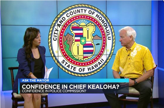 Honolulu Mayor Kirk Caldwell has avoided talking publicly about the FBI's investigation of Police Chief Louis Kealoha.