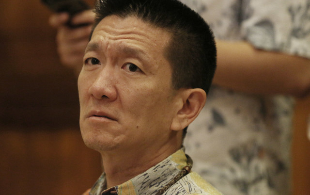 Hawaii Attorney General Doug Chin, seen here at a January hearing, opposes a bill to elect the attorney general instead of having the governor appoint someone to the position.