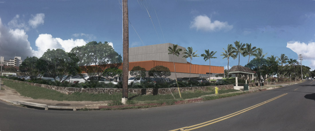 This artist's rendering of the planned Diamond Head Theatre looks at the building from the corner of Pokole Street and Alohea Avenue.
