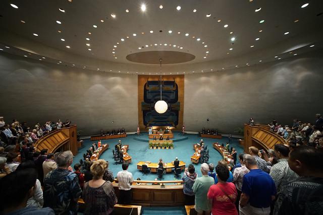 Opening day at the Hawaii Senate.