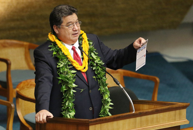 Senate President Ron Kouchi's opening day speech set the tone for how he expects lawmakers to act this session.