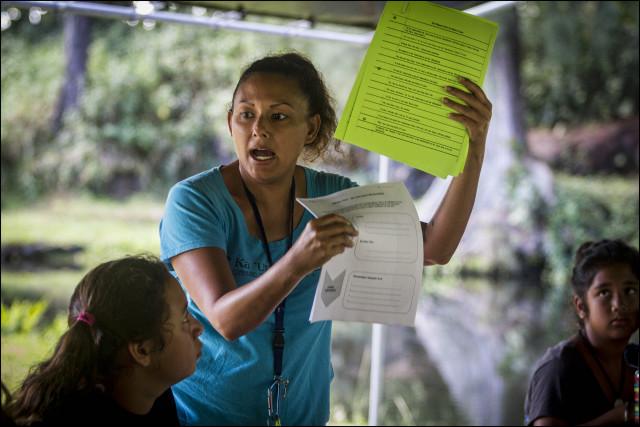 Ka 'Umeke Ka'eo charter school teacher Roxanne Stewart 10/29/13