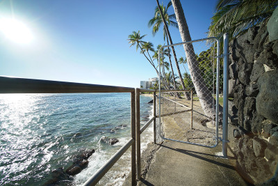 This gate was along the path that leads from Makalei Park to the beach.