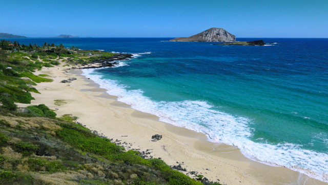 Makapuu Beach Park looks placid and inviting here, but following a storm last August, a rip current just off shore put swimmers at risk.