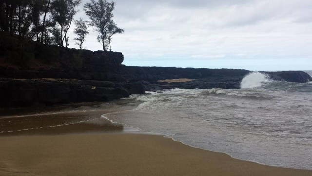 A view of the area on Lumahai Beach near where Jamie Zimmerman drowned.
