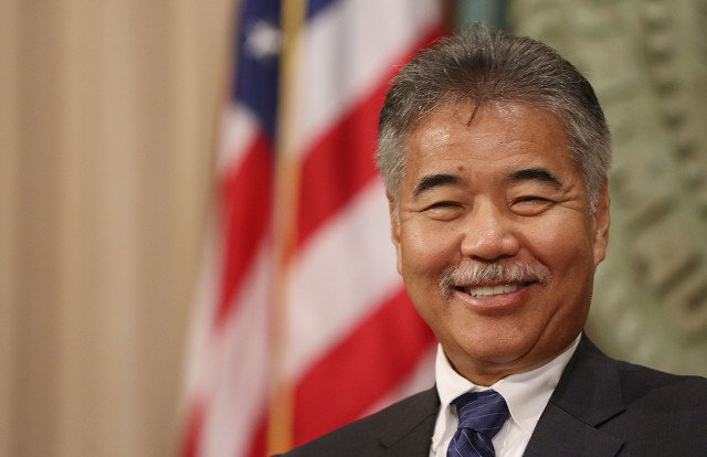 Post State of State press conference by Gov David Ige, smiley after speech. 25 jan 2016photograph by Cory Lum/Civil Beat
