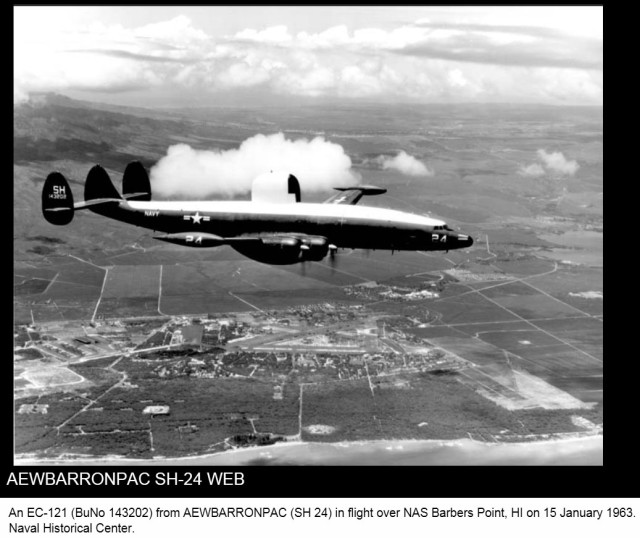 EC-121 over Naval Air Station Barbers Point in 1963.