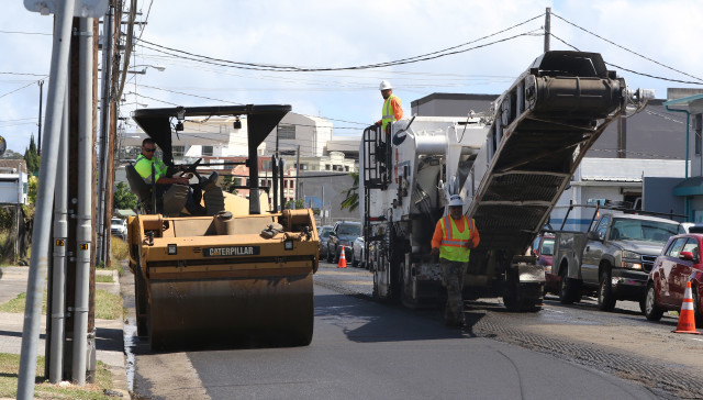 Beretania Street repaving road repave2