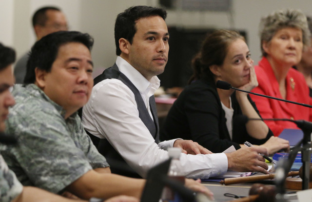 Chair Chris Lee and Chair Ryan Yamane during meeting involving Prisons