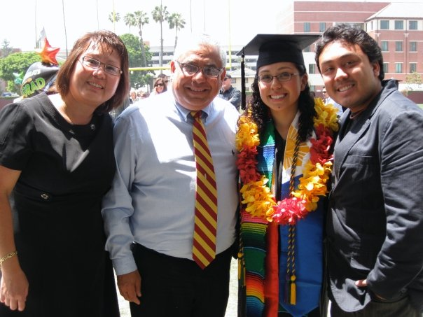 Christina Torres graduating from college in California.
