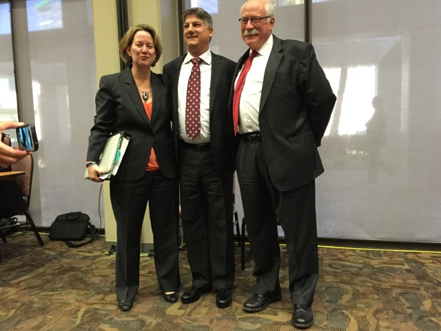 Former energy regulators Kristin Mayes, Nathan Skop and Ron Binz all testified against the NextEra-Hawaiian Electric merger at regulatory hearings in recent days.