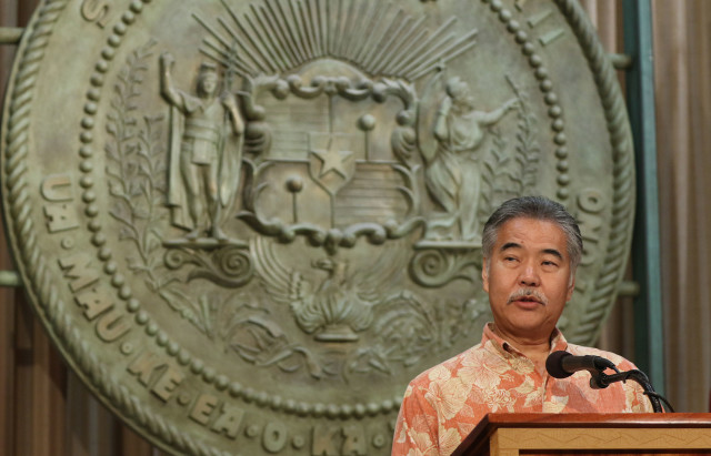 Governor David Ige press conference DC trip.