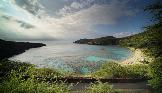Hanauma Bay Nature Reserve vog sunrise1