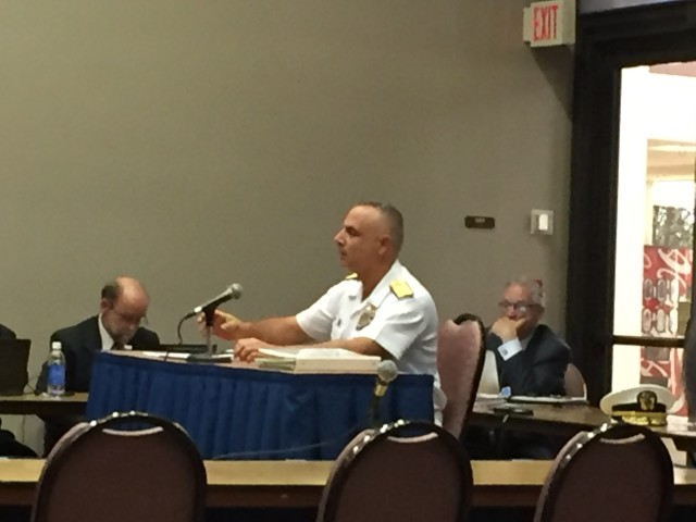 Rear Admiral John W. Korka testified before the PUC about the DOD's shift toward supporting the NextEra-Hawaiian Electric merger.