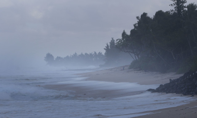 Waves pound the North Shore of Oahu.