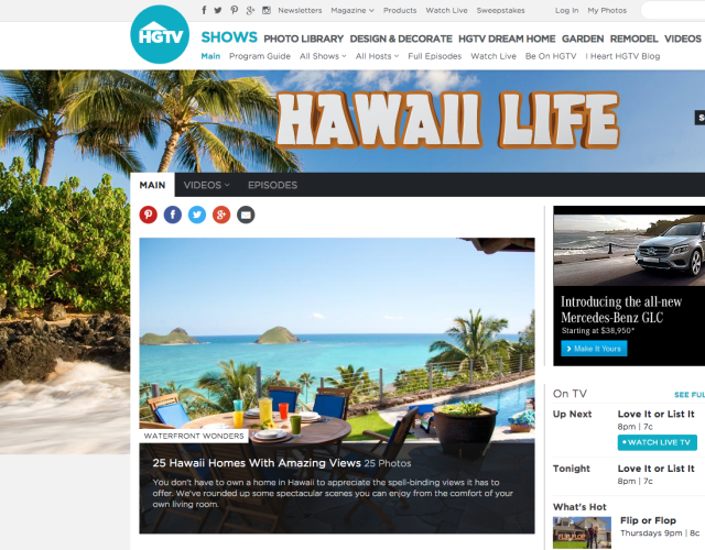 "The web site for HGTV's show ""Hawaii Life"" sells the dream of home ownership in Hawaii."