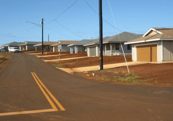 The Anahola Hawaiian Homes development on Kauai is one of many such projects for Native Hawaiian housing under the Department of Hawaiian Homelands.