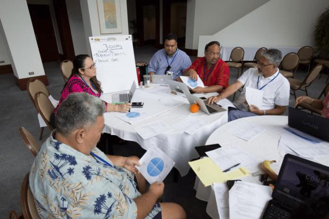 A Nai Aupuni aha meeting in Maunawili, Feb. 22.