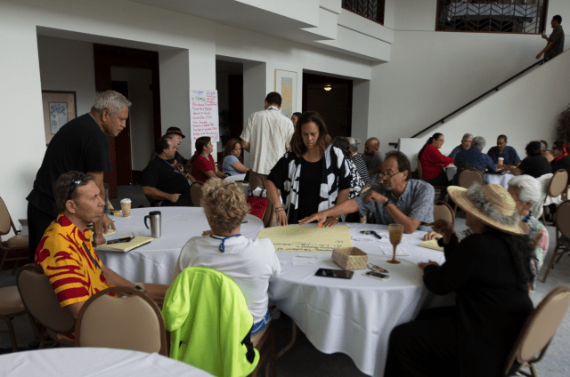 Nai Aupuni aha participants discussing governance.