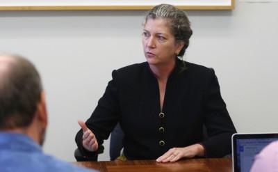 Sen Laura Thielen editorial board at the Capitol.