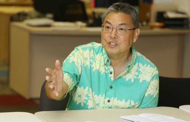 Congressman Mark Takai editorial board1. 29 march 2016.